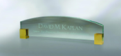 the edge is a high-tech glass desk nameplate