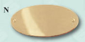 Oval plain. Beautiful solid brass name plate