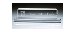 Glass & Crystal Desk Nameplates