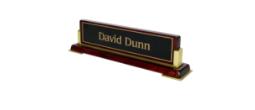 Piano Finish Desk Nameplates