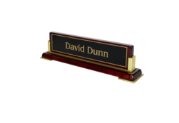 Piano Finish Desk Nameplates