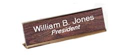 Standard Desk Nameplates