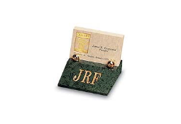 The #169 Synergy Cardholder is made of beautiful green marble with brass accents.