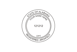 Alabama Architect Seal ELR