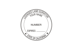 CA Land Surveyor Seal ELR