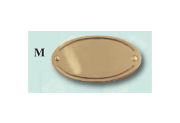 Oval with edging ribbon. Beautiful solid brass name plate