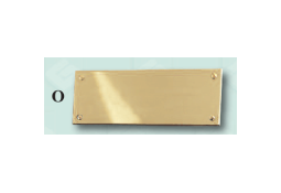 Beautiful solid brass name plate. Rectangular plain