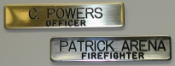 Machine Engraved Brass Nane Badge