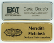 Deluxe Metal framed badge